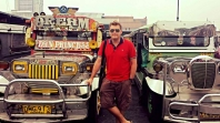 The colourful 'Jeepneys' in Manila Philippines. Converted WW2 Jeeps that now serve as the city transportation.