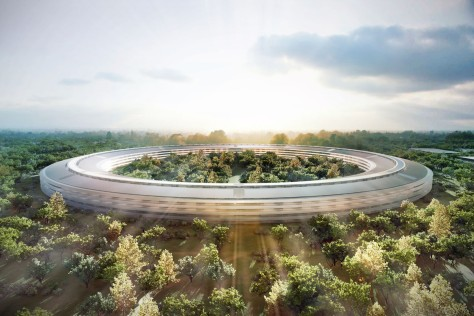 An artist's rendition of the new Apple 'Mothership'