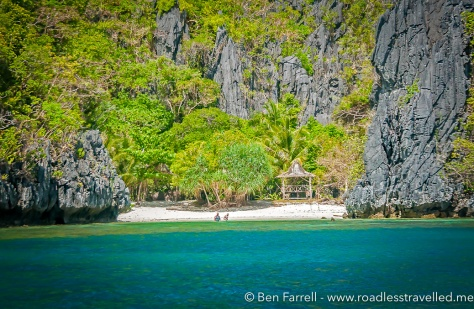 One of the many isolated beaches off El Nido in Palwan.